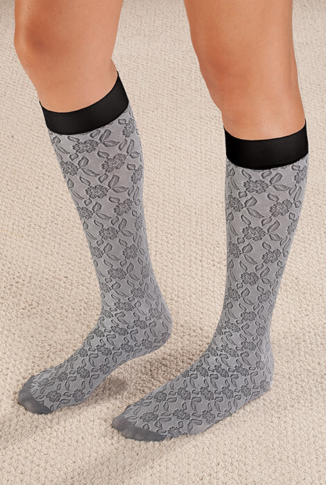 Celeste Stein Lace Compression Socks, 8-15 mmHg - View 2