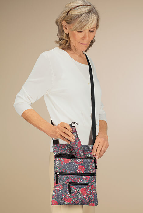 Quilted Crossbody Bag with Umbrella - View 2