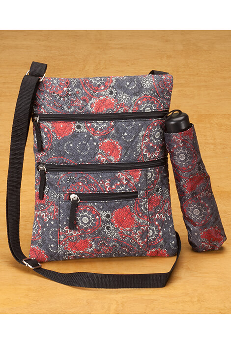 Quilted Crossbody Bag with Umbrella - View 3