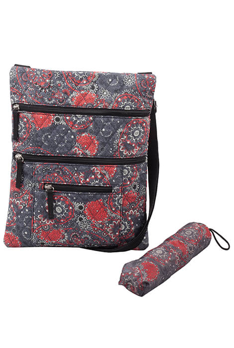 Quilted Crossbody Bag with Umbrella - View 4