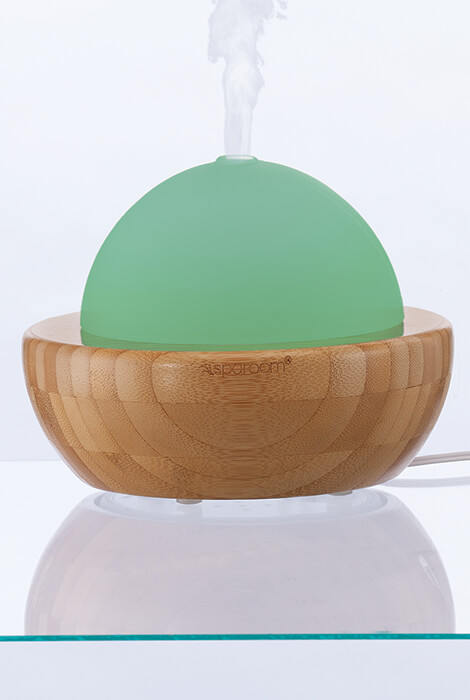 AromaGlobe Glass & Bamboo Essential Oil Diffuser - View 4