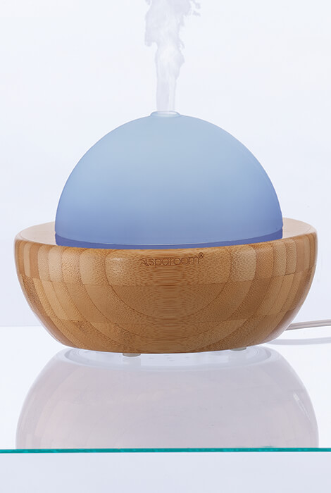 AromaGlobe Glass & Bamboo Essential Oil Diffuser - View 5