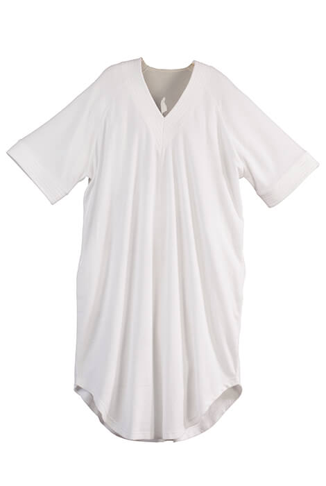V Neck White Terry Caftan by Sawyer Creek - View 3