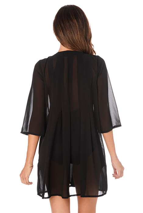 Penbrooke Shear Black Coverup - View 3