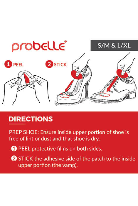 Probelle® 90 Day Shoe Deodorant Patches - View 2