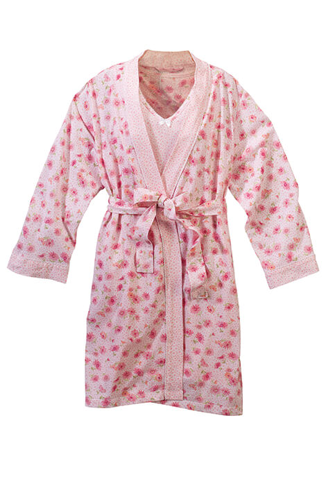 Summer Garden Robe and Chemise Set - View 2