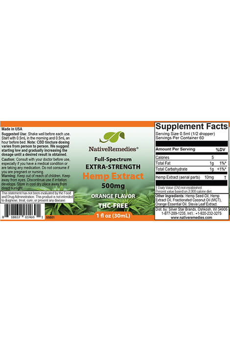 NativeRemedies® Extra-Strength Hemp Extract 500mg - View 4