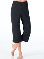 Bottoms - Wide Leg Capri Pants For Women