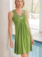 View All Clothing & Swim - Embellished Knit Swimsuit Cover-Up