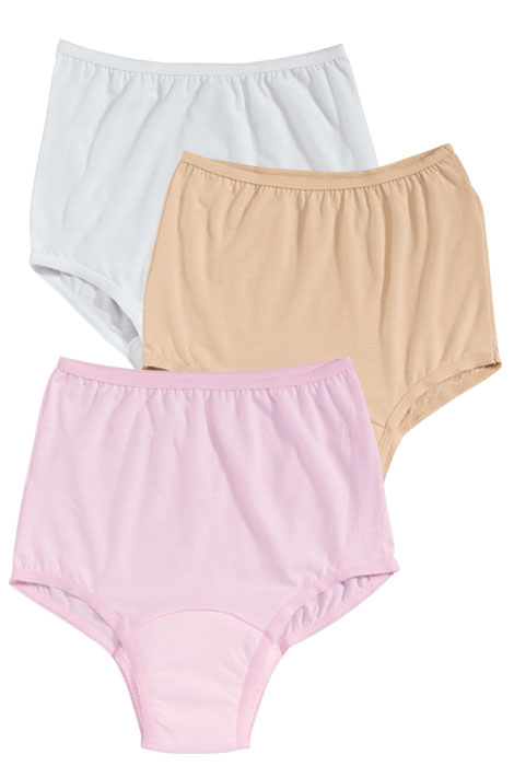 Colored Incontinence Panties - Pack Of 3 - View 1