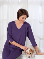 Goodnighties® Three Quarter Sleeve Top With Ionx® Technology