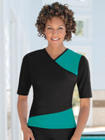 Plus Sizes - HydroChic™ Wrap Swim Shirt, S-XL