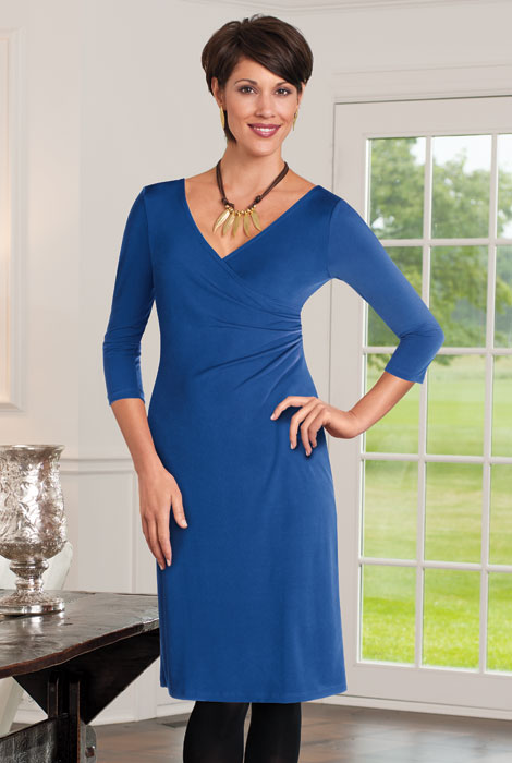Wrap Dress with Tummy Tamer - View 1