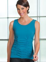 Tops - Slimfitters™ All Over Ruched Tank