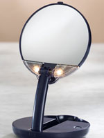 Styling Tools & Products - Lighted Travel Makeup Mirror