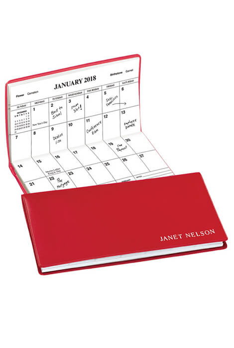Red Personalized 2 Year Pocket Planner