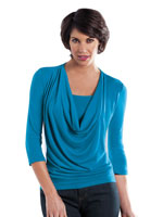 Tops - SlimU™ Slimming Cowl Neck Top
