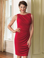 Exclusively Here - Ruched Sheath Dress with Tummy Tamer