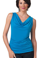 Tops - SlimU™ Drape Neck Ruched Top