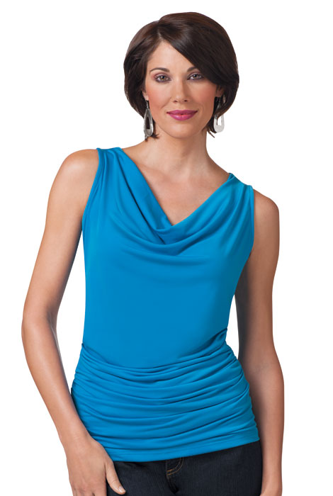 SlimU™ Drape Neck Ruched Top