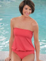 View All Sale - Jantzen® Bandeau Blouson Swimsuit