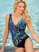 View All Clothing & Swim - Longitude® Magic Kingdom Side Shirred Surplice Suit