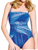 View All Sale - Blue Metal Bandeau Suit