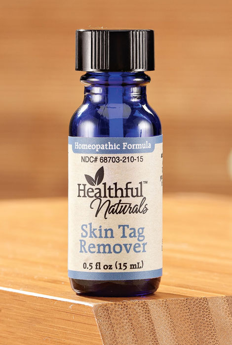 Healthful Skin Tag Remedy Simply apply this topical skin tag remedy for smoother skin without expensive, painful dermatologist visits. Ingredients include salicylic acid, aloe extract, and castor, tea tree and safflower oils. 0.5 fl. oz. |||Ingredients Thuja Occidentalis 6x HPUS, Ricinus Communis (Castor) Seed Oil, Salicylic Acid, Melaleuca Alternifolia (Tea Tree) Leaf Oil, Thuja Occidentalis Leaf Oil, Carthamus Tinctorius (Safflower) See Oil, Aloe Barbadensis Leaf Extract|||Usage Symptomatic treatment of skin tags. May be used for anal skin tags.