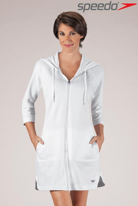 Aquatic Fitness Hooded Robe - View 1