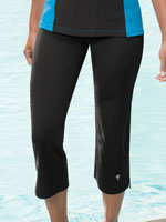 Athletic Swimwear - HydroChic™ Swim Capri Pant