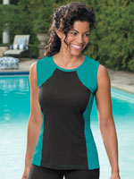 Athletic Swimwear - HydroChic™ Swim Sleeveless Top