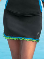 Surf & Sand Swimwear - HydroChic™ Ruffle Swim Skirt