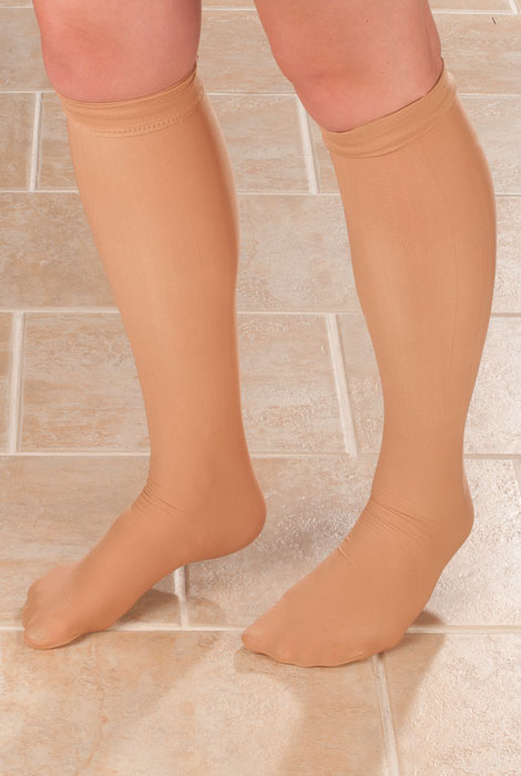Ribbed Compression Socks - 15–20 mmHg - View 1