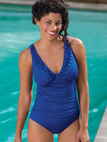 View All Clothing & Swim - Jantzen® Braided V Neck Shirred Tank