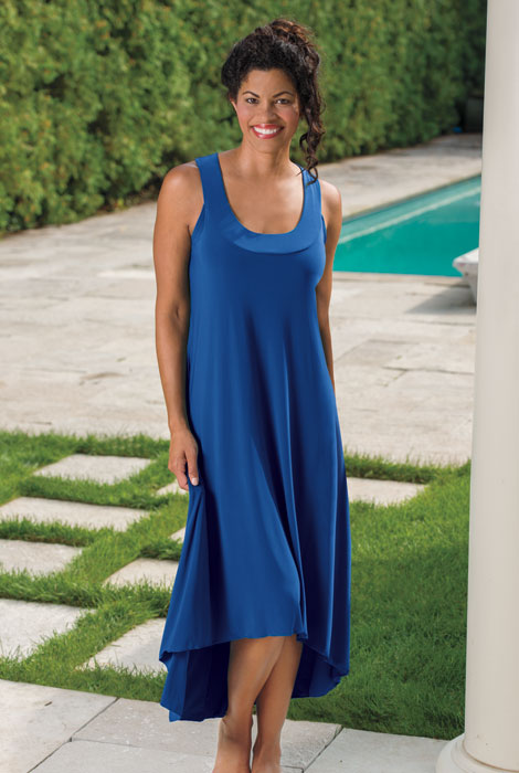 High-Low Hem Maxi Dress - View 1