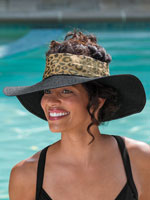 Swim Accessories - Adira Crownless Leopard Band Hat