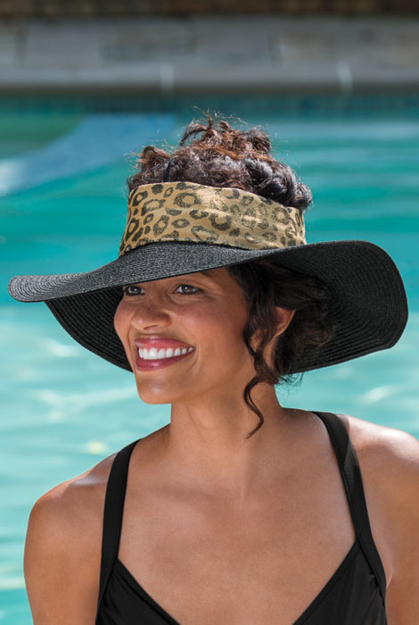 Adira Crownless Leopard Band Hat