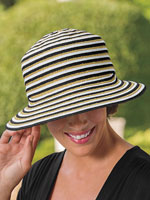 Hats, Scarves & Gloves - Gottex® Pippa Asymetrical Brim Derby Hat