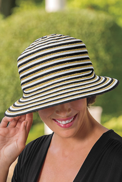 Gottex® Pippa Asymetrical Brim Derby Hat - View 1