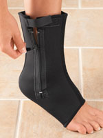 Supports & Braces - Compression Ankle Support With Zipper