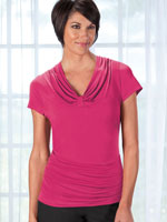 View All Clothing & Swim - Slimfitters™ Gathered V Neck Top
