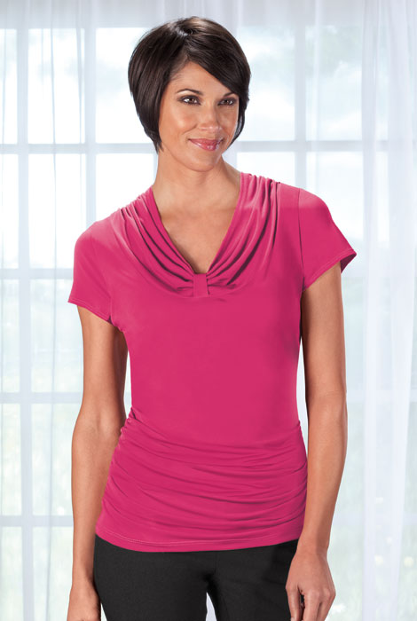 Slimfitters™ Gathered V Neck Top