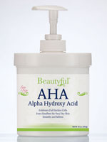 Cleansers & Exfoliators - AHA Alpha Hydroxy Acid Cream - 16 oz.