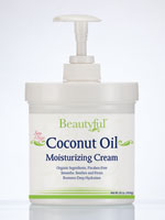 Hand, Foot & Body Care - Beautyful™​ Coconut Oil Moisturizing Cream - 16 oz.