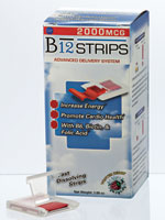 Energy - B-12 Strips, 2000 mcg