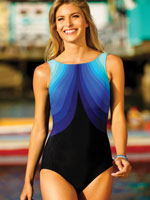Surf & Sand Swimwear - Reebok® Aqua Angel High Neck Swimsuit