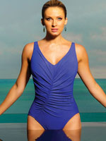 Pop of Color Swimwear - Magic Suit® Charlize V-Neck Suit