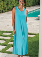 Clothing & Accessories - V-Neck Maxi Dress Cover-Up