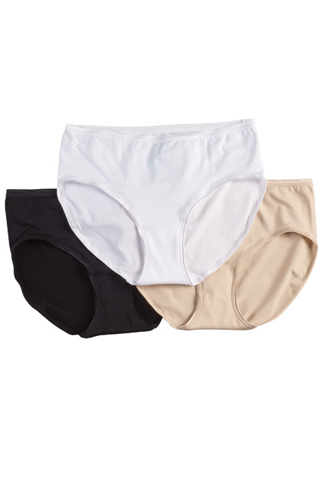 Hush Hush Seamless Absorbent Briefs, 3-Pack - View 1