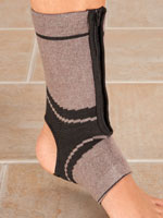 Supports & Braces - Magnetic Bamboo Ankle Brace with Zipper